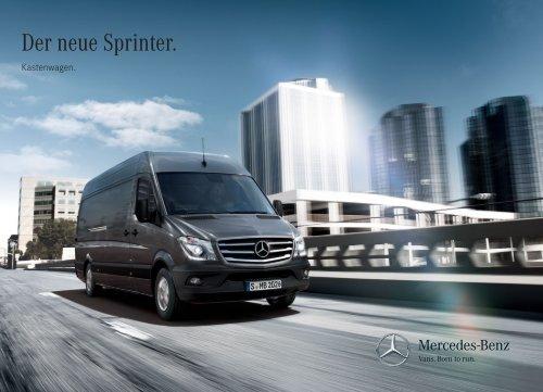Sprinter Kastenwagen Broschüre herunterladen (PDF)