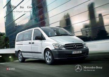 Preisliste Vito Bus - Mercedes-Benz Österreich