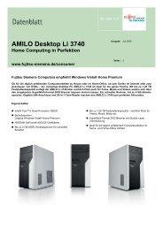AMILO Desktop Li 3740 Home Computing in Perfektion