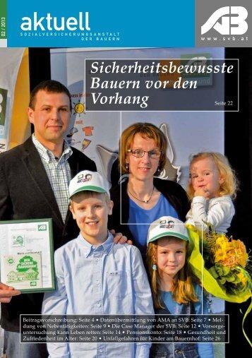 SVB-aktuell 2/2013 - Sozialversicherungsanstalt der Bauern