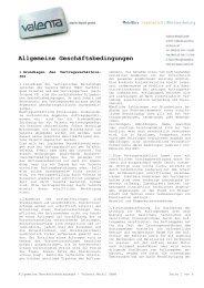 Allgemeine Geschäftsbedingungen - Valenta