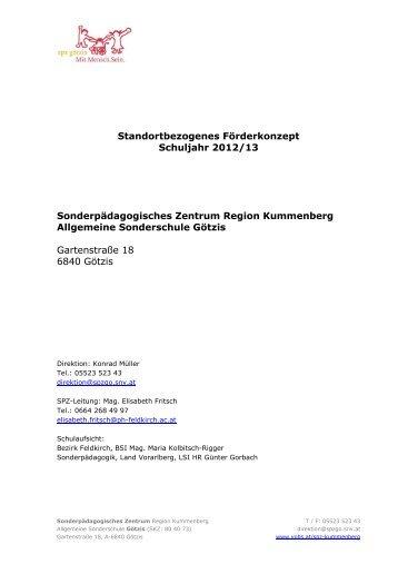 121200 ASO-SPZ Götzis - Standortbezogenes Förderkonzept