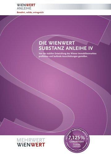 Folder Substanz Anleihe IV - Wienwert Immobilien Finanz AG