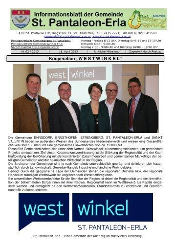 Zeitung 2-2013 - in der Gemeinde St. Pantaleon - Erla
