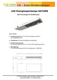 Solar-Straßenlampen LED Energiesparlampe SATURN