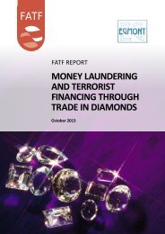 MONEY LAUNDERING AND TERRORIST FINANCING THROUGH TRADE IN DIAMONDS