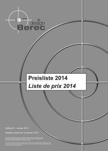 Gesamtpreisliste 2014