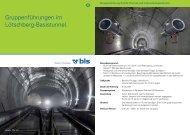 Gruppenführungen im Lötschberg-Basistunnel. - BLS