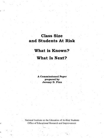 2011-0103-Sa-class-size-and-students-at-risk-report