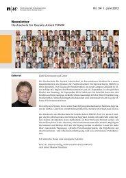 Newsletter 34 der Hochschule für Soziale Arbeit FHNW