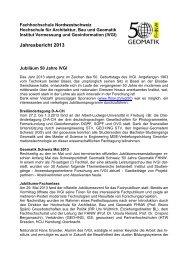 Jahresbericht 2013 - Fachhochschule Nordwestschweiz