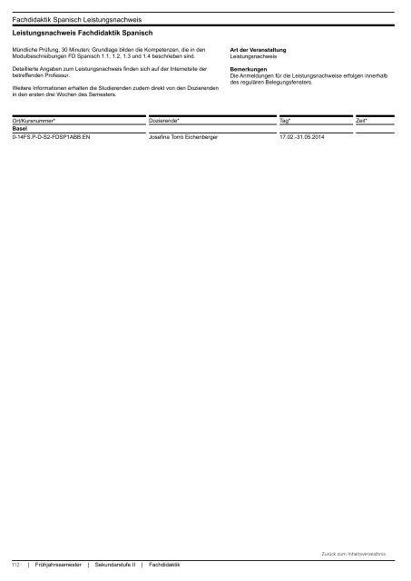 Sekundarstufe II - Fachhochschule Nordwestschweiz