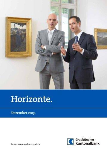 Horizonte. - Graubündner Kantonalbank