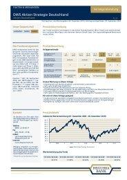 DWS Aktien Strategie Deutschland - bei der Degussa Bank