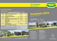 Preisliste 2014 - Grimm AG / Wiedag AG