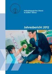 Jahresbericht 2012 - Heilpädagogischer Dienst St.Gallen-Glarus