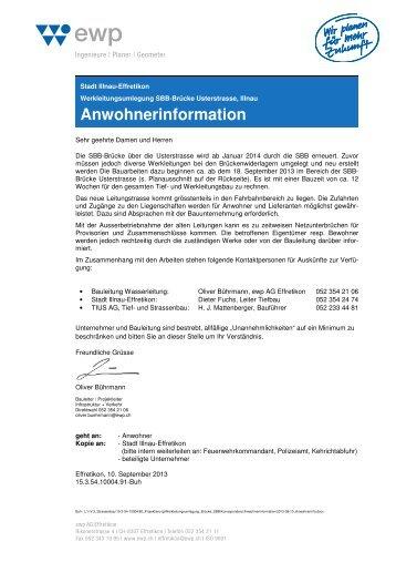 Anwohnerinformation - Stadt Illnau-Effretikon