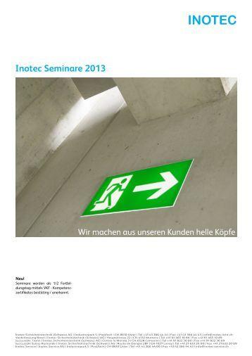 download Seminarprogramm 2013 - Inotec Sicherheitstechnik