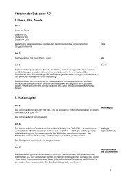 Statuten der Datacolor AG I. Firma, Sitz, Zweck II ... - Datacolor.com