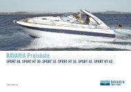 BAVARIA Preisliste - Boote Pfister