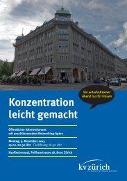 Konzentration leicht gemacht - Kaufmännische Verband Zürich