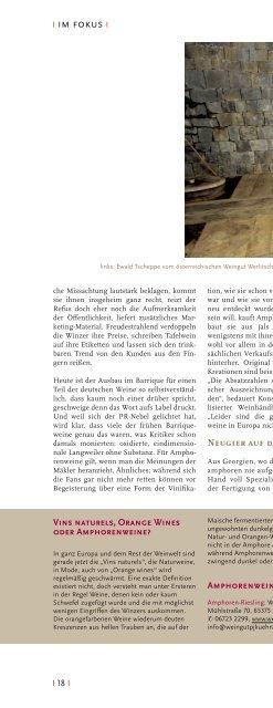 """Artikel """"Meiningers Weinwelt"""" Juni 2013 - Albert Mathier & Söhne"""
