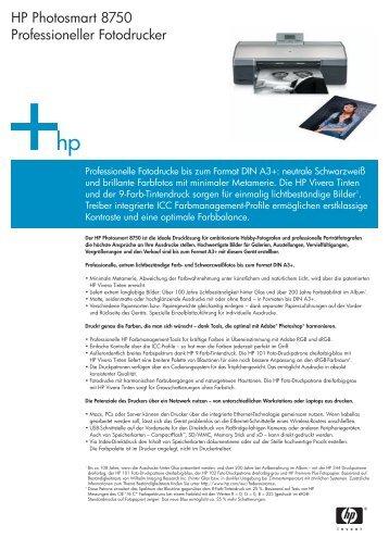HP Photosmart 8750 Professioneller Fotodrucker