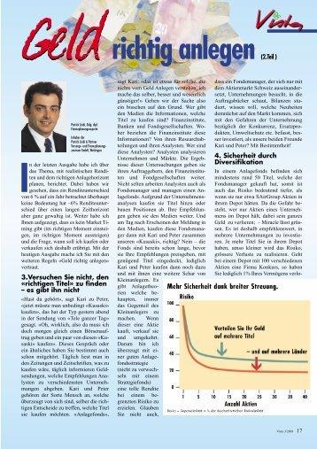 Geld richtig anlegen 2. Teil - Patrick Liebi & Partner   Vorsorge