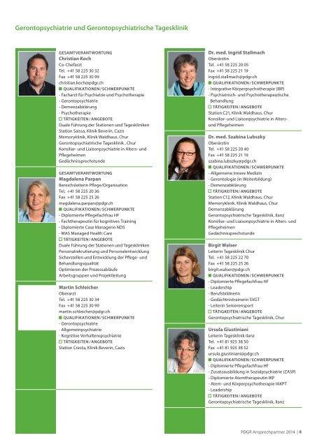 Ansprechpartner in den PDGR - Information für Zuweiser (PDF)