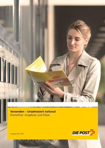 Broschüre PromoPost: Angebote und Preise (gültig ab ... - Die Post