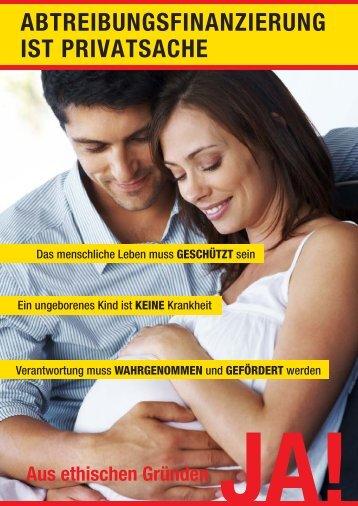 Flugblatt zur Abstimmung - Pro Life