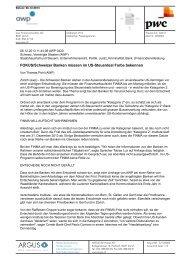 FOKUS/Schweizer Banken müssen im US-Steuerdeal Farbe ... - PwC