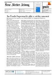 Im Fonds-Supermarkt gibt es nichts umsonst - PwC