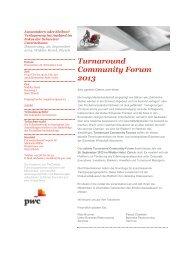 Turnaround Community Forum 2013 – Auswandern oder ... - PwC