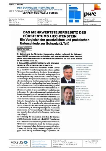 Das Mehrwertsteuergesetz des Fürstentums Liechtenstein - PwC