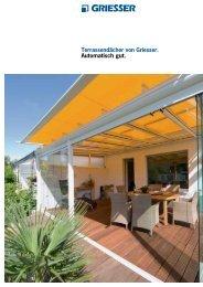 Terrassendächer von Griesser. Automatisch gut.