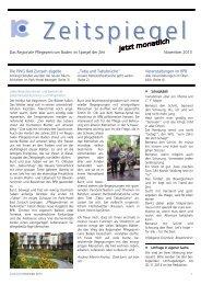 Zeitspiegel November 2013 - Regionales Pflegezentrum Baden