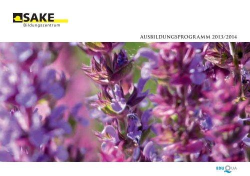 SAKE Ausbildungs-programm 2013/14 als PDF herunterladen