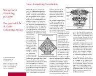 Aktuelle Consulting-Dokumentation - St. Galler Business School