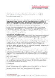 SOHK-Konjunkturindikator: Solothurner Konjunktur im Mai 2013 ...