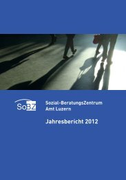 Jahresbericht 2012 SoBZ Amt Luzern