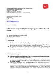 Erdbebenversicherung: Vorschläge für eine Regelung ... - SP Schweiz