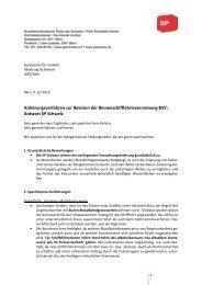 Binnenschifffahrtsverordnung BSV - SP Schweiz
