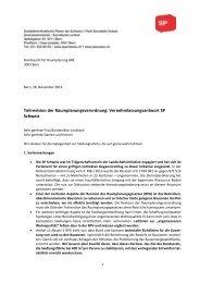 Teilrevision der Raumplanungsverordnung ... - SP Schweiz