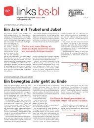 links.bs.bl 141, Dezember 2013 - SP Schweiz