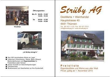 Download der Preisliste November 2013 - Strüby AG