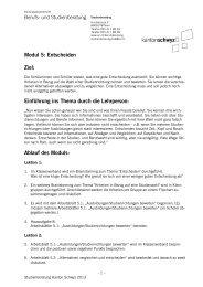 Modul 5: Entscheiden - Kanton Schwyz