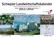 Schwyzer Landwirtschaftskalender 2013/14 - Kanton Schwyz