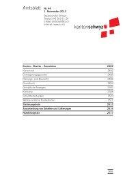 Amtsblatt Nr. 44 vom 1. November 2013 (266 KB ... - Kanton Schwyz