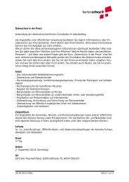 Datenschutz in der Praxis Anwendung der ... - Kanton Schwyz
